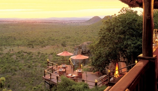 Ulusaba Rock Lodge deck at sunset Ulusaba © Virgin Limited Edition 2 Ulusaba Private Game Reserve in South Africa