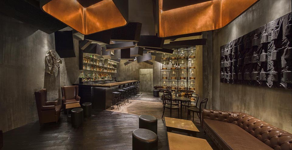 pirate ceiling light ideas - Flask Speakeasy Shanghai by Alberto Caiola