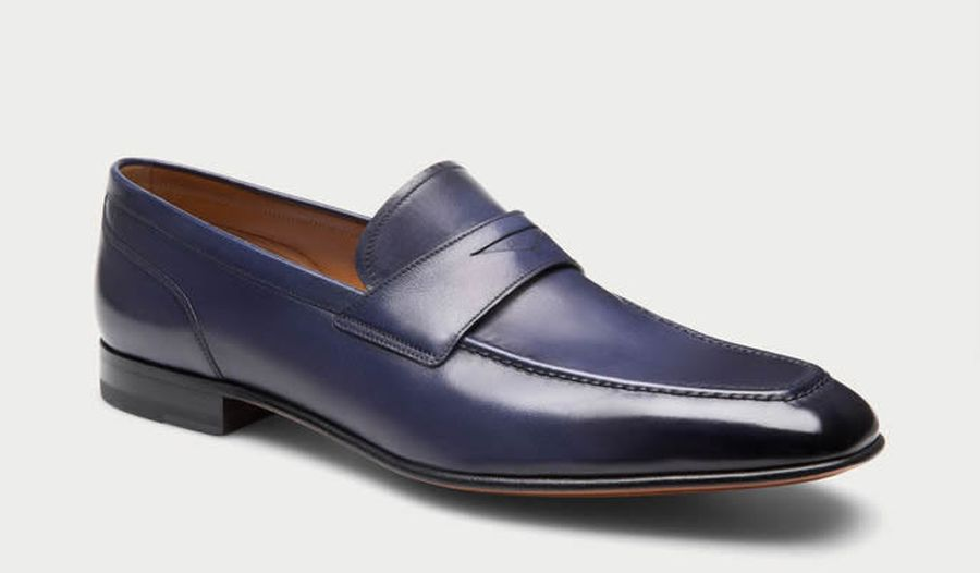 Bally – BRENT – Men's leather slip-On loafer in Ink