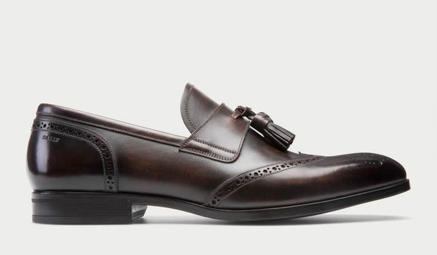 Bally – LAVENT – Men's leather tassel loafer in Mid Brown