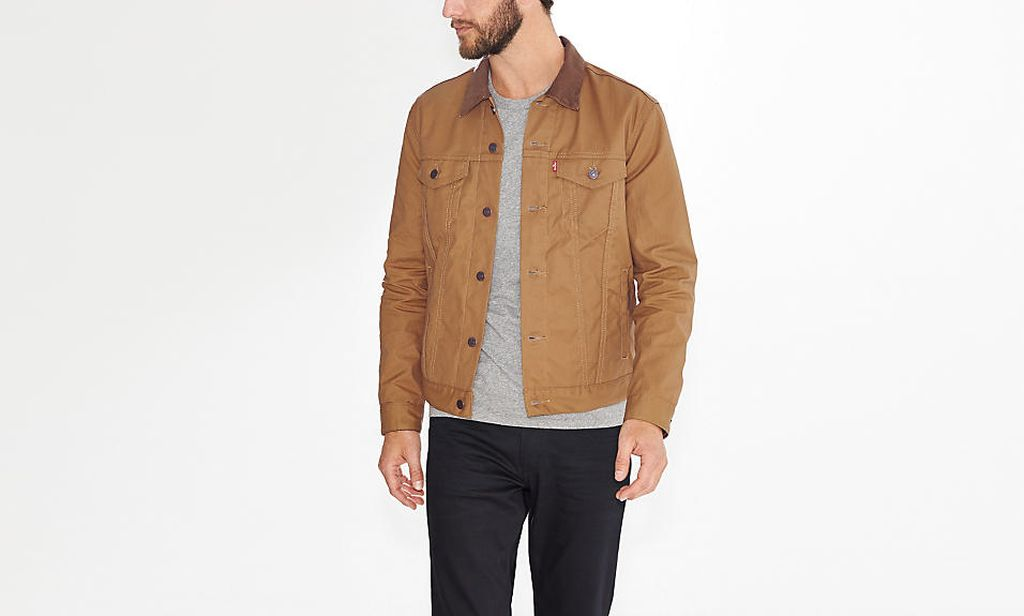 Levi's Waxed Canvas Trucker Jacket paper bag color The 13 Coolest Waxed Canvas Jackets for Men