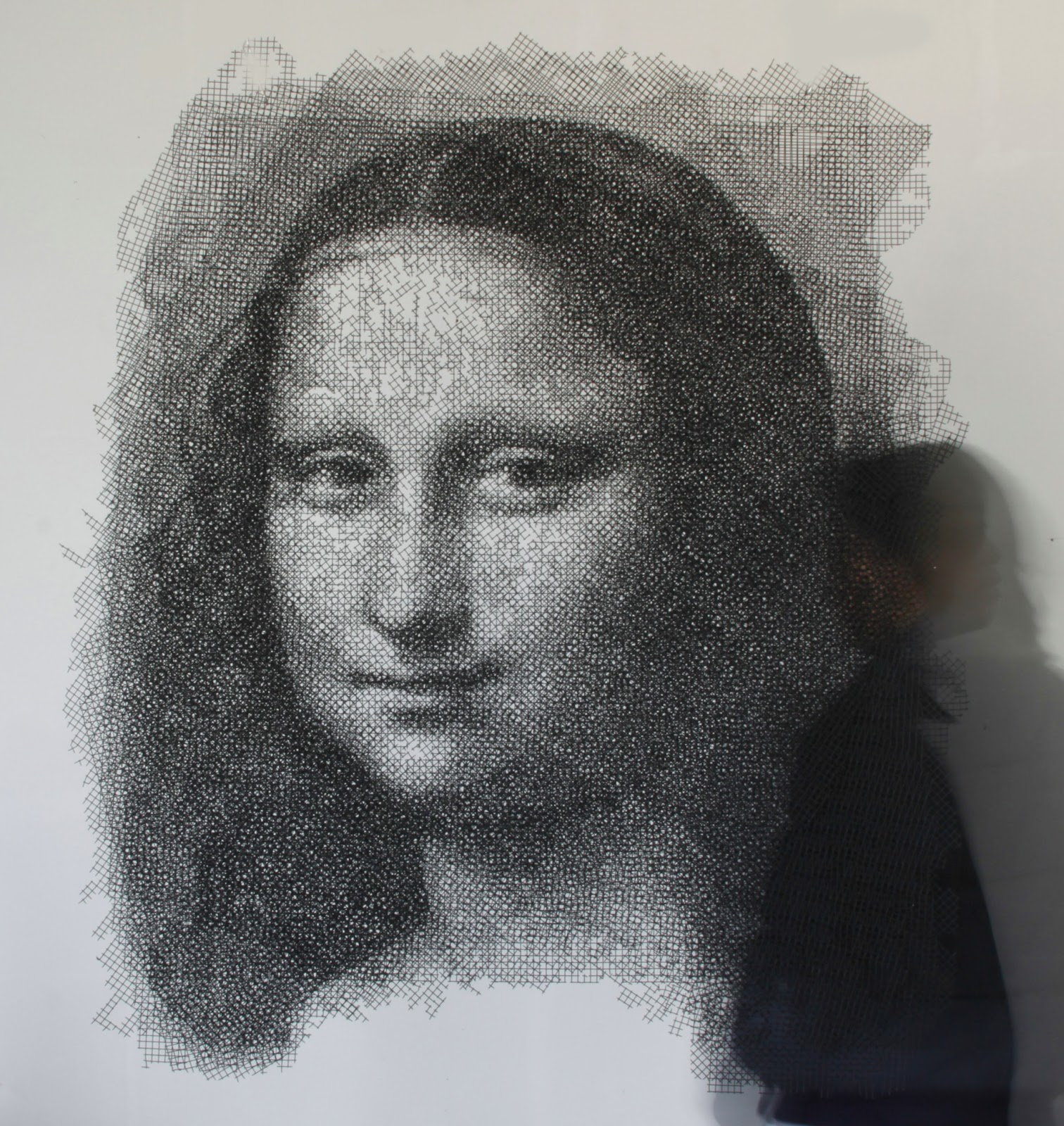 'Mona Lisa' by Seung Mo Park – wire sculpture