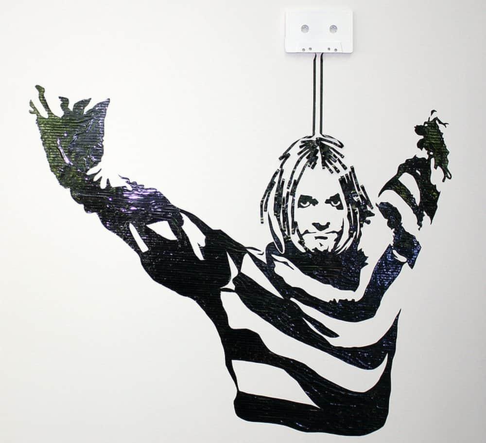 Erika Iris Simmons Ghost In The Machine – Kurt Cobain – junk art